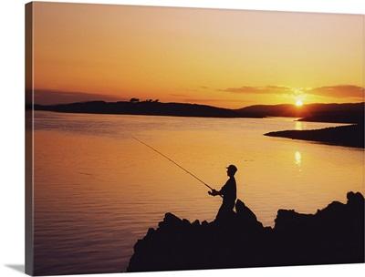Fishing At Sunset, Roaring Water Bay, Co Cork, Ireland