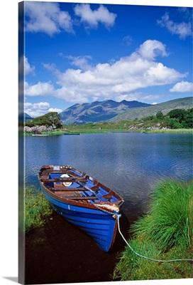 Fishing Boat On Upper Lake, Killarney National Park, County Kerry, Ireland