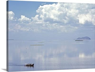 Fishing Boat Returning To Chisi Island In Lake Chilwa, Malawi