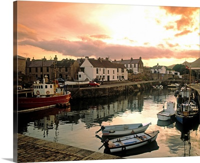 Fishing Village In Ireland