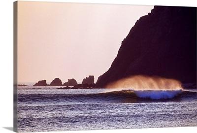 Five Finger Strand, Inishowen Peninsula, County Donegal, Ireland; Breaking Ocean Waves
