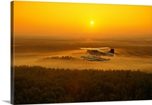 Floatplane Flying @ Sunset Matanuska Valley SC AK Summer