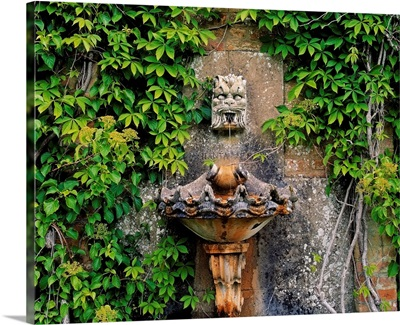Fountain In The Walled Garden, Florence Court, Co Fermanagh, Ireland