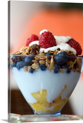 Fruit And Granola In Yogurt