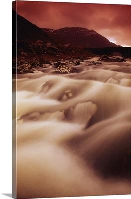 Gap Of Dunloe, River Loe, County Kerry, Ireland; Flowing River