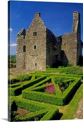 Garden In Front Of Tully Castle, County Fermanagh, Northern Ireland