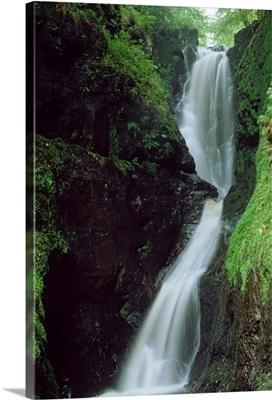 Glenariff Falls, Glens Of Antrim, Co Antrim, Ireland; Flowing Waterfall
