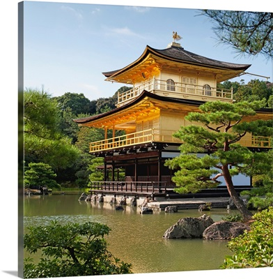 Golden Pavilion, A Buddhist Temple; Kinkaku Ji, Kyoto, Japan