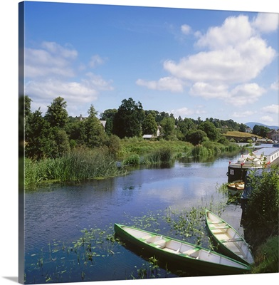 Graiguenamanagh, River Barrow, Co Carlow, Ireland; Boats In The River