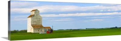 Grain Elevator in the Countryside, Alberta, Canada