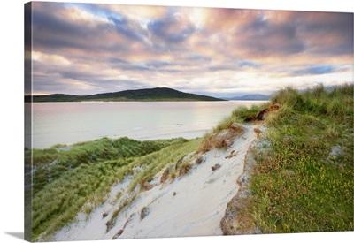 Grass Covered Dunes, Sound Of Taransay, Traigh Rosamal, Scotland