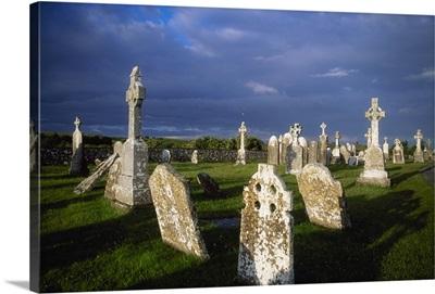 Graveyard, Clonmacnoise, County Offaly, Ireland