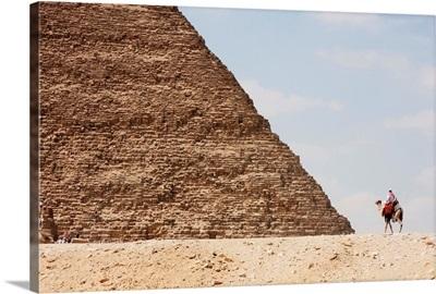 Great Pyramid Of Khufu (Cheops) And Camel Driver, Giza, Al Jizah, Egypt
