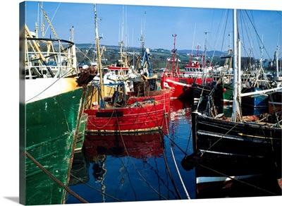 Greencastle, Lough Foyle, Ireland; Boats At Commercial Fishing Port