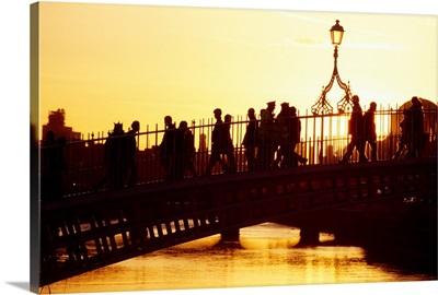 Ha'penny Bridge, Dublin, Co Dublin, Ireland, 19Th Century Bridge