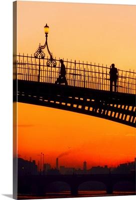 Ha'penny Bridge, Dublin, Co Dublin, Ireland; 19th Century Bridge Over The River Liffey