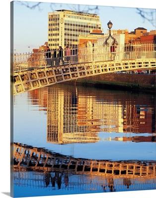 Ha'penny Bridge, River Liffey, Dublin, Ireland, 19th Century Bridge