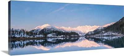 Harrison Lagoon at sunrise, Prince William Sound, Chugach National Forest, Alaska