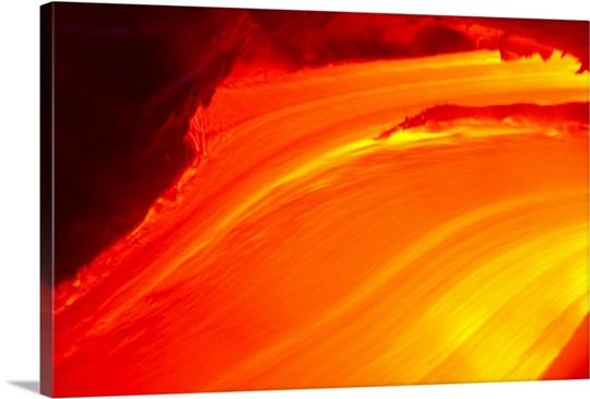 hawaii big island close up of glowing lava flow volcano wall art