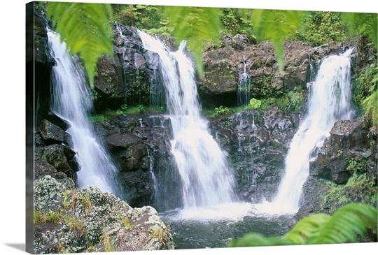 Rainforest On The Big Island: Hawaii, Big Island, Rainforest Waterfalls, Three