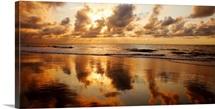 Hawaii, Maui, Kihei, Sunset At Kamaole Beach One