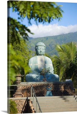 Hawaii, Maui, Lahaina Jodo Mission, Buddha Statue