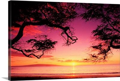 Hawaii, Maui, Sunset At Palauea Beach