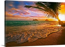 Hawaii, Oahu, Lanikai Beach At Sunrise
