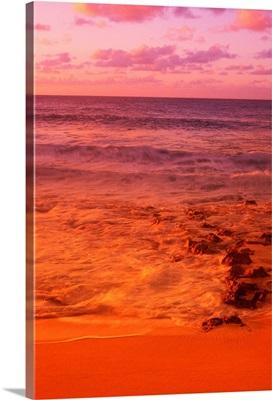 Hawaii, Oahu, North Shore, Sunset
