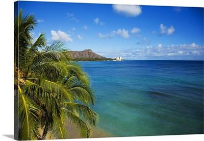 Hawaii Waikiki, View Of Diamond Head
