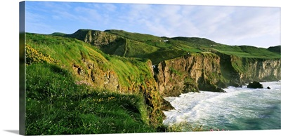 High Angle View Of A Coast, County Antrim, Northern Ireland