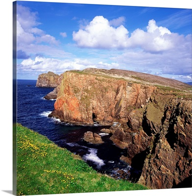 High Angle View Of Rock Formations At The Coast, Tory Island, Republic Of Ireland
