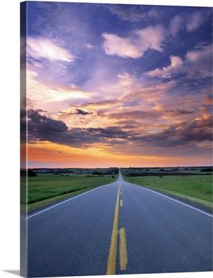 Highway 580, Near Cremona, Alberta, Canada