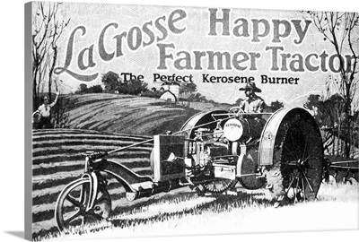 Historic LaCrosse tractor advertisement from the early 20th century