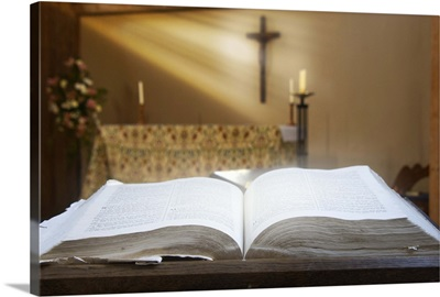 Holy Bible In A Church
