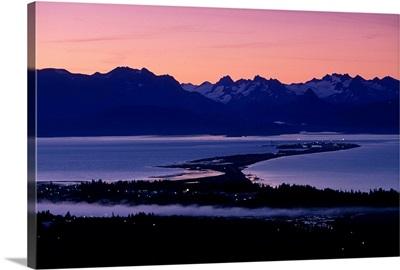 Homer Spit at Sunset, Kenai Peninsula, Alaska, Kachemak Bay
