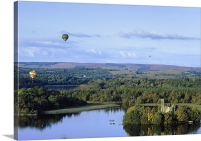 Hot Air Balloon over Lough Key Forest And Activity Park, Boyle, Ireland