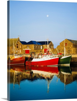 Howth Harbour, County Dublin, Ireland; Boats In Harbour