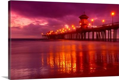 Huntington Beach At Night