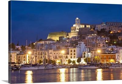 Ibiza Skyline At Night; Ibiza, Spain