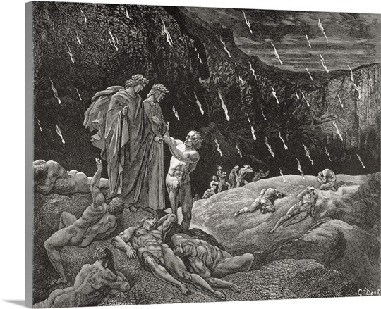 Inferno By Dante Alighieri Canto Xv Lines 28 And 29 Wall