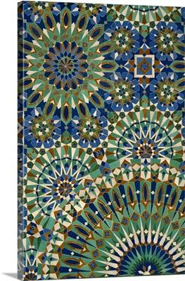 Interior Detail of Hassan Ii Mosque; Casablanca, Morocco