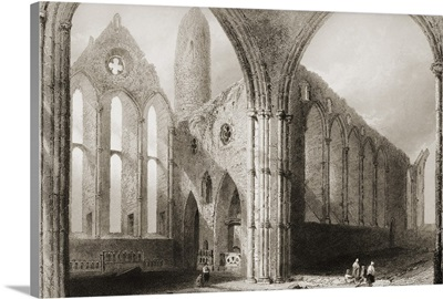 Interior Of Cashel Abbey, Connemara, County Galway, Ireland