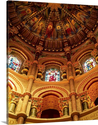 Interiors Of A Cathedral, St. Finbarrs Cathedral, Cork, Republic Of Ireland