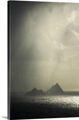 Islands In A Rain Shower, Skellig Islands, County Kerry, Ireland