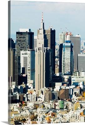 Japan, Tokyo, Shinjuku, High Rise Buildings Of Shinjuku Skyline