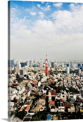 Japan, Tokyo, Tower And City View From Top Of Mori Tower