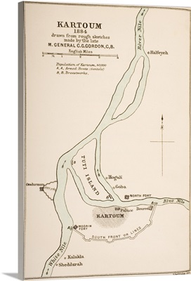 Kartoum, Sudan, In 1884 Drawn From Rough Sketches Made By General Gordon