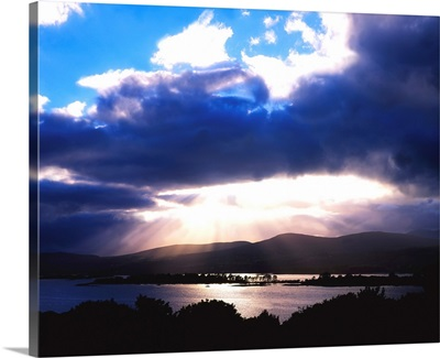 Kenmare Bay, Dunkerron Islands, Co Kerry, Ireland; Sunset Over A Bay