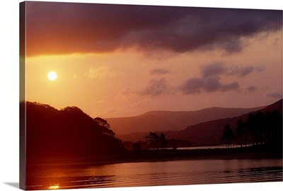 Kenmare Bay, Dunkerron Islands, Co Kerry, Ireland, Sunset Over A Bay